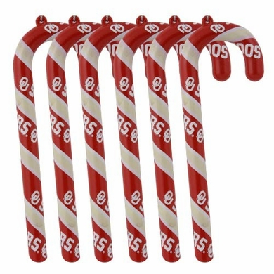 Oklahoma Set of 6 Candy Cane Ornaments