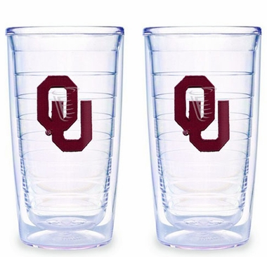 Oklahoma Set of TWO 16 oz. Tervis Tumblers