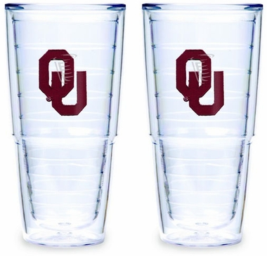 Oklahoma Set of TWO 24 oz. Tervis Tumblers