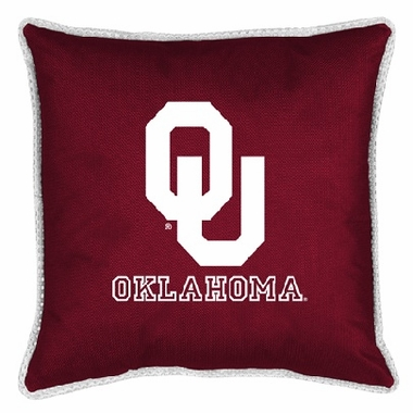 Oklahoma SIDELINES Jersey Material Toss Pillow