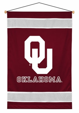 Oklahoma SIDELINES Jersey Material Wallhanging