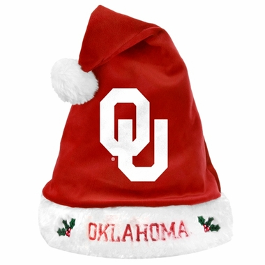 Oklahoma Sooners 2012 Team Logo Plush Santa Hat