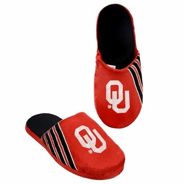 Oklahoma Sooners 2012 Team Stripe Logo Slippers
