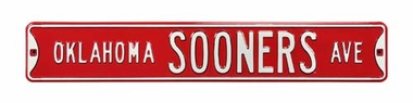 Oklahoma Sooners Ave Street Sign