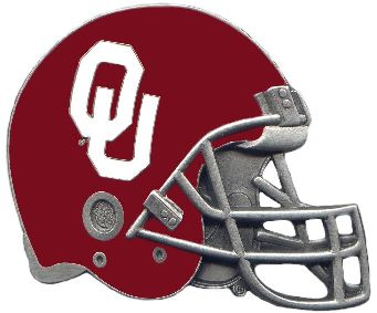 Oklahoma Sooners Helmet Hitch Cover Class 3