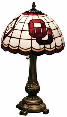 Oklahoma Stained Glass Table Lamp