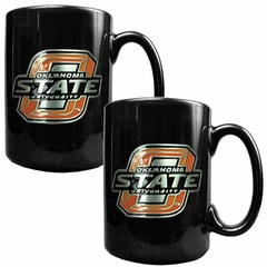 Oklahoma State 2 Piece Coffee Mug Set