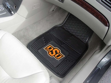 Oklahoma State 2 Piece Heavy Duty Vinyl Car Mats