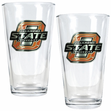 Oklahoma State 2 Piece Pint Glass Set