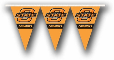 Oklahoma State 25 Foot String of Party Pennants (P)