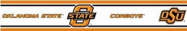 Oklahoma State 5.5 Inch (Height) Wallpaper Border
