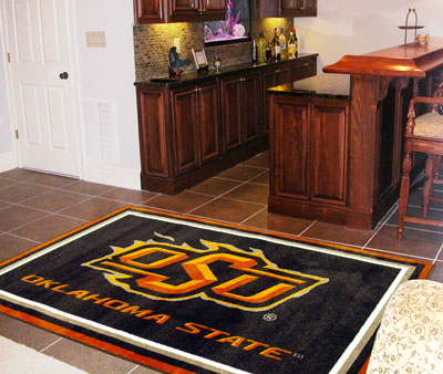 Oklahoma State 5 Foot x 8 Foot Rug