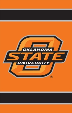 Oklahoma State Applique Banner Flag