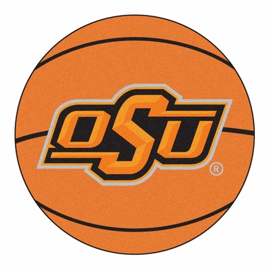 Oklahoma State Basketball Shaped Rug