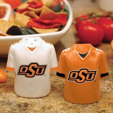 Oklahoma State Ceramic Jersey Salt and Pepper Shakers