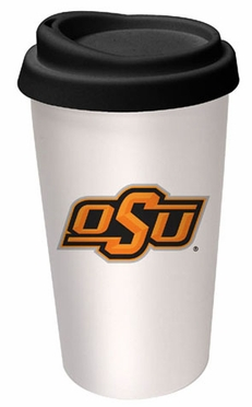 Oklahoma State Ceramic Travel Cup