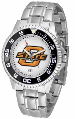 Oklahoma State Competitor Men's Steel Band Watch