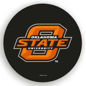 Oklahoma State Cowboys Black Spare Tire Cover (Small Size)