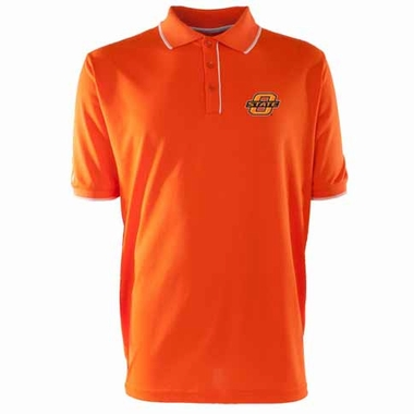 Oklahoma State Mens Elite Polo Shirt (Team Color: Orange)
