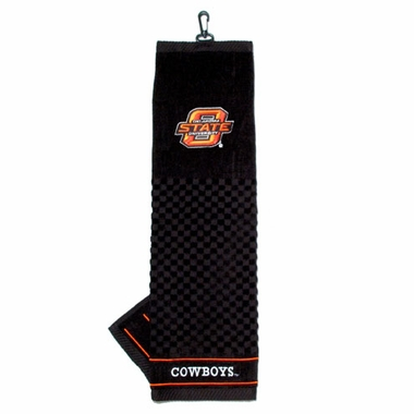 Oklahoma State Embroidered Golf Towel