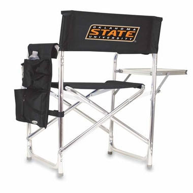 Oklahoma State Embroidered Sports Chair (Black)