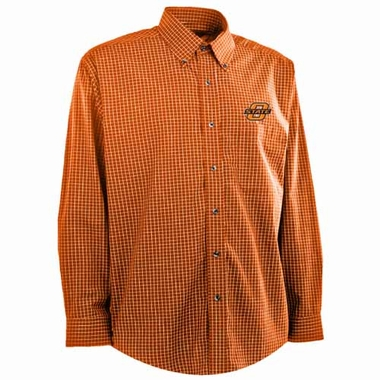 Oklahoma State Mens Esteem Button Down Dress Shirt (Team Color: Orange)