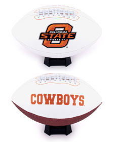 Oklahoma State Full Size Embroidered Football