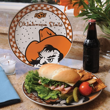 Oklahoma State Gameday Ceramic Plate