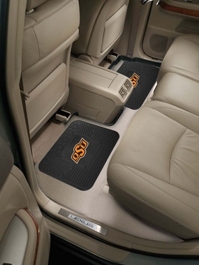 Oklahoma State SET OF 2 Heavy Duty Vinyl Rear Car Mats