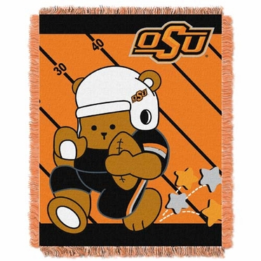 Oklahoma State Jacquard BABY Throw Blanket