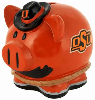 Oklahoma State Large Thematic Piggy Bank