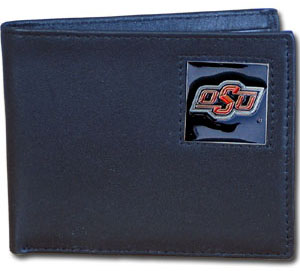 Oklahoma State Leather Bifold Wallet (F)