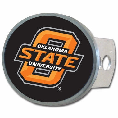 Oklahoma State Oval Metal Hitch Cover