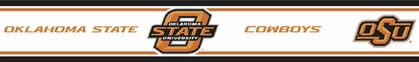 Oklahoma State Peel and Stick Wallpaper Border