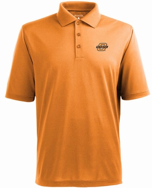 Oklahoma State Mens Pique Xtra Lite Polo Shirt (Team Color: Orange)