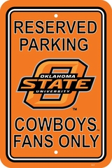 Oklahoma State Plastic Parking Sign (P)