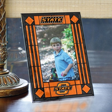 Oklahoma State Portrait Art Glass Picture Frame