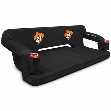 Oklahoma State Reflex Travel Couch (Black)