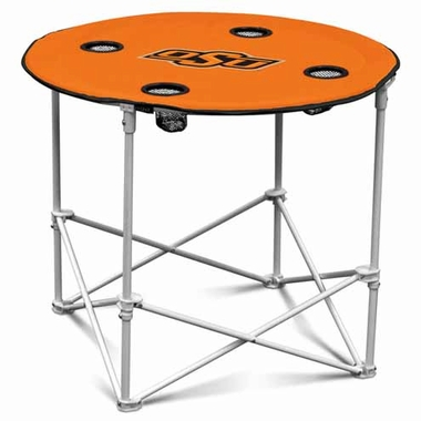 Oklahoma State Round Tailgate Table