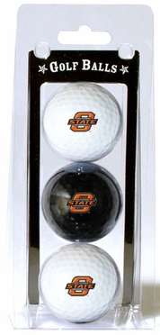 Oklahoma State Set of 3 Multicolor Golf Balls