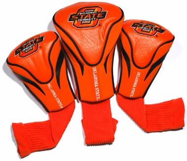 Oklahoma State Set of Three Contour Headcovers