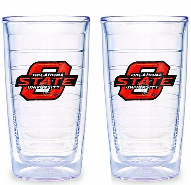 Oklahoma State Set of TWO 16 oz. Tervis Tumblers