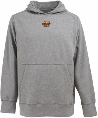 Oklahoma State Mens Signature Hooded Sweatshirt (Color: Gray)