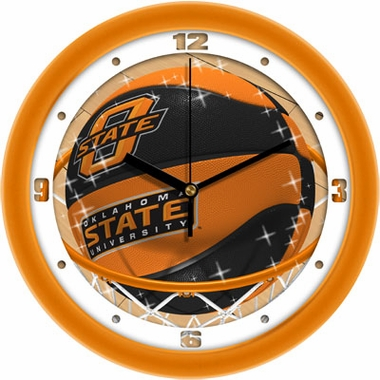 Oklahoma State Slam Dunk Wall Clock