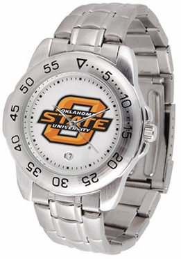 Oklahoma State Sport Men's Steel Band Watch