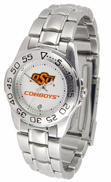 Oklahoma State Sport Women's Steel Band Watch