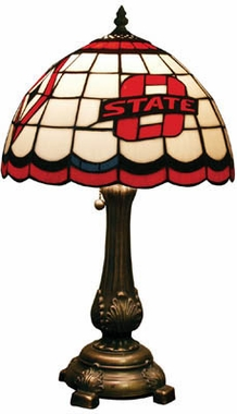 Oklahoma State Stained Glass Table Lamp