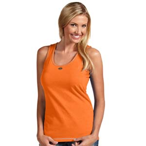 Oklahoma State Womens Sport Tank Top (Team Color: Orange) - Small