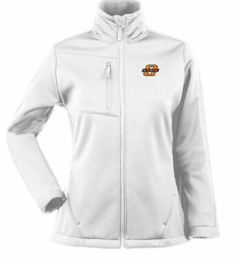 Oklahoma State Womens Traverse Jacket (Color: White)