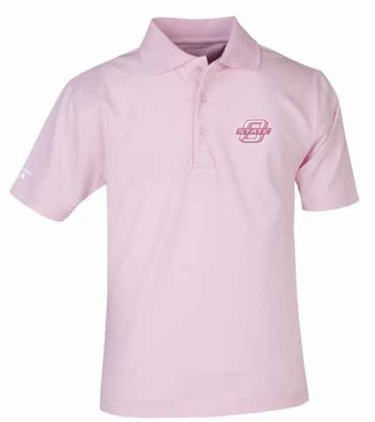 Oklahoma State YOUTH Unisex Pique Polo Shirt (Color: Pink)